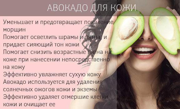 Авокадо для кожи, волос и здоровья