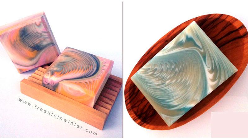 Свирлы в мыле с нуля методом двойного перелива